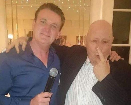 """Hartlepool radio presenter Paul """"Goffy"""" Gough, left, with the late George Reynolds."""