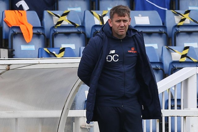 Hartlepool manager, Dave Challinor (Credit: Mark Fletcher   MI News)