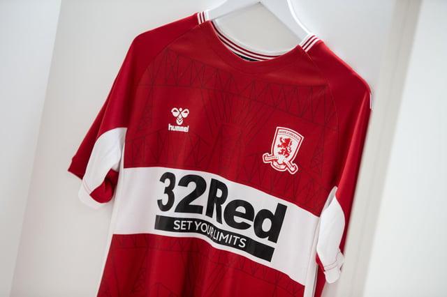 Middlesbrough's 2021/22 home shirt.