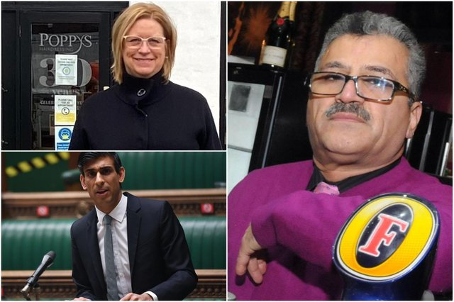 Businesses reacted to Rishi Sunak's budget including Janice Auton of Totally Locally Hartlepool and hospitality spokesman Darab Rezai.