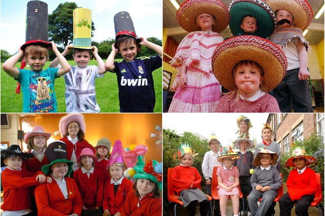 Who do you recognise in these hat-themed photos?