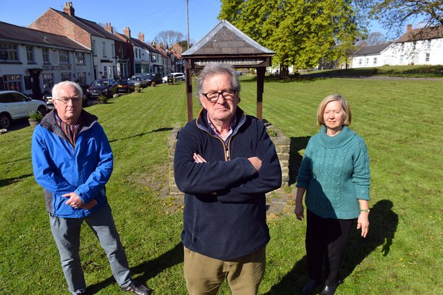 From left, Greatham Parish Council chairman Brian Walker, Hart Parish Council chairman John Littlefair and Elwick Parish Council chair Hilary Thompson.