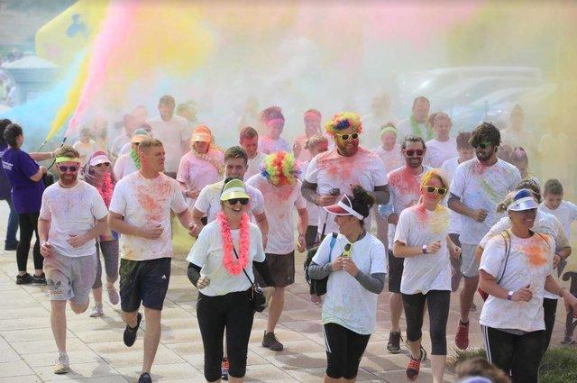 A previous year's Colour Run in aid of Alice House Hospice.