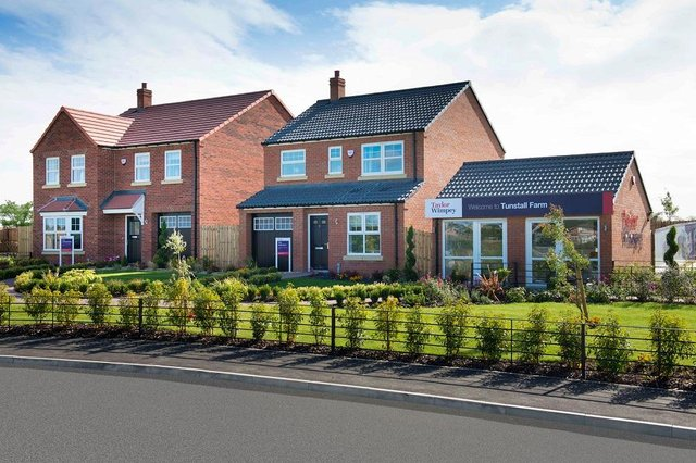 Some of the new houses at the Tunstall Farm development in Hartlepool.