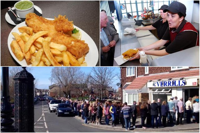 Mariner's (top right) and Verrills below feature in our look back at great Hartlepool fish and chip shops.