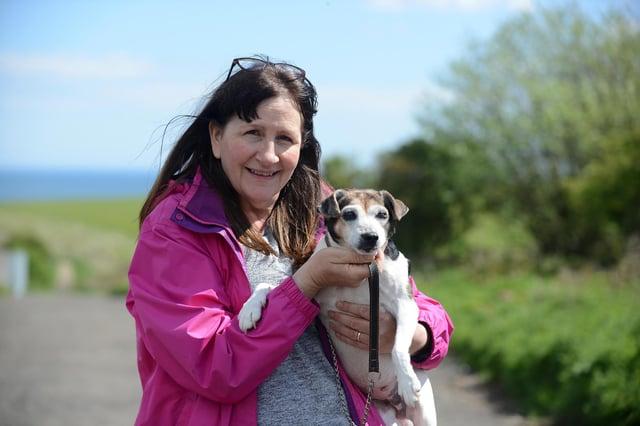 Louise Fenwick has been taking Beth for walks since last summer.