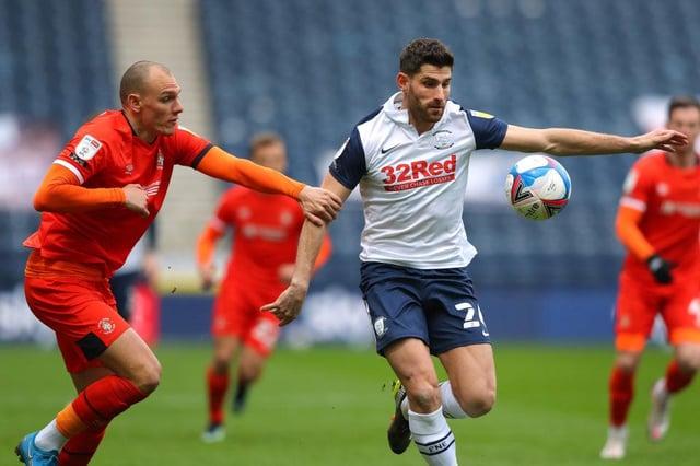 Preston striker Ched Evans.