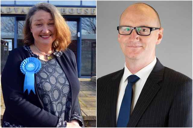 Hartlepool MP Jill Mortimer and council leader Shane Moore have welcomed the reduction in burglaries.