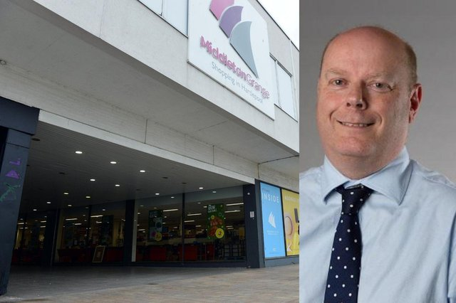 The new testing centre for people without Covid symptoms has opened in Middleton Grange Shopping Centre. Right: Hartlepool Director of Public Health Craig Blundred.