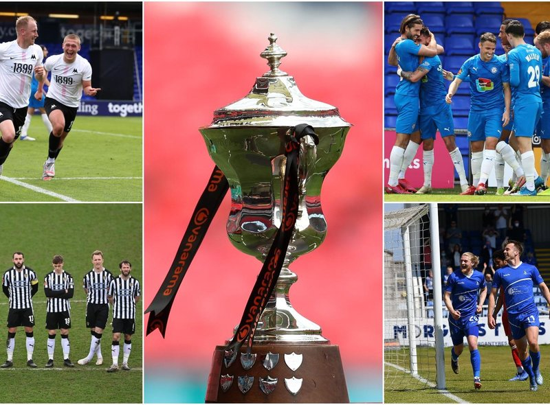 Which team will be promoted from the National League via the play-offs this season?