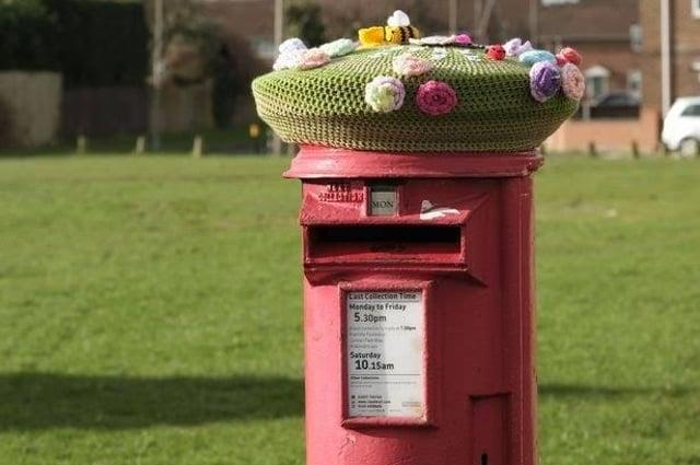 The post-box on Catcote Road near the Fens shops.