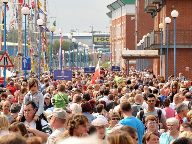 2010's Tall Ships Races in Hartlepool brought the biggest crowds that the marina had ever seen with thousands of visitors streaming into town.