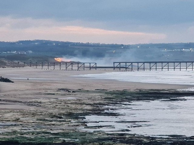 A photo taken by Barry Hodge showing a blaze on the coast on the evening of Tuesday, March 23.