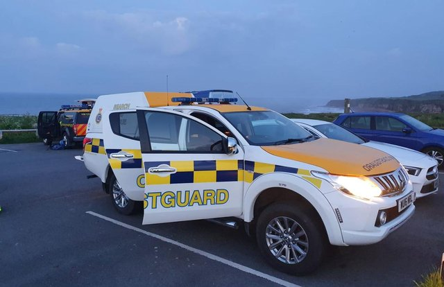 Seaham Coastguard Rescue Team shared this photo following the call out, which also involved the team from Hartlepool.