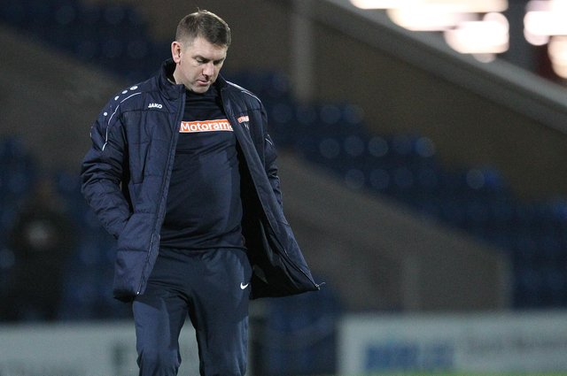 Hartlepool United manager Dave Challinor (Credit: Mark Fletcher | MI News)