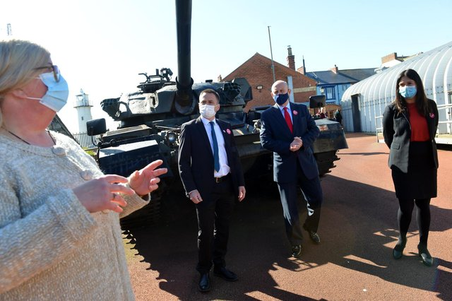 Heugh Gun Battery manager Diane Stephens, far left, with, from second left, Labour's Dr Paul Williams, John Healey and Lisa Nandy.