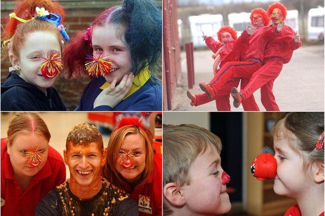Let's sniff out some memories of Red Nose Day over the years.