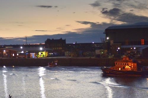 RNLI boats responded to a report of an overboard fisherman around three miles off the Hartlepool coast in the early hours of the morning.