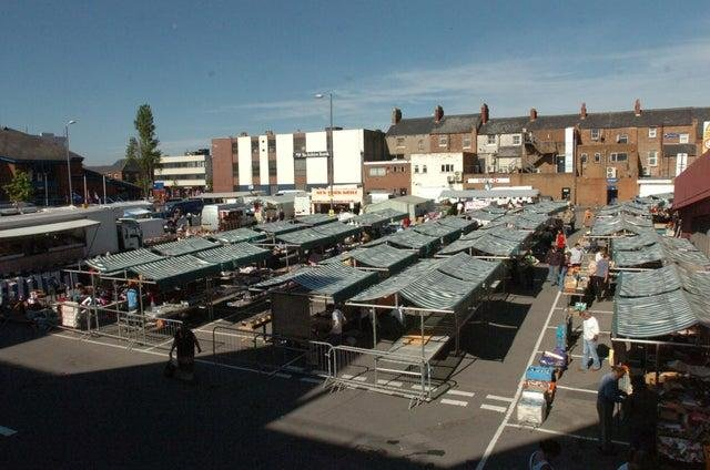 The site of Hartlepool's outdoor market.