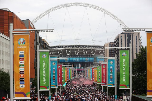 Police are investigating online racist abuse towards England players as well as a security breach at Wembley following the Euro 2020 final. Photo: Alex Pantling/Getty Images.