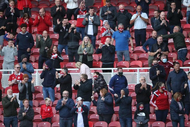 As part of a test event 1,000 Boro fans attended a home game against Bournemouth in September. That was the only time games attended a game at the Riverside during the 2020/21 season.