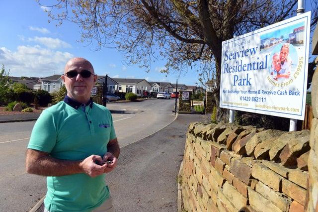 Dave Hughes, who runs Seaview Residential Park