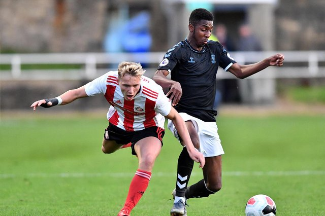 Isaiah Jones playing for Middlesbrough's under-23 side.