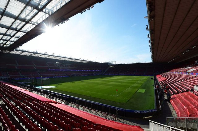 A general view inside the stadium prior to the international friendly match between England and Austria at Riverside Stadium on June 02, 2021 in Middlesbrough, England. (Photo by Peter Powell - Pool/Getty Images)