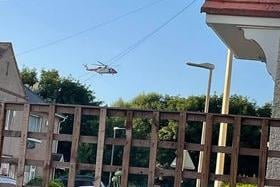 The Coastguard helicopter over Hartlepool this evening. Pic: Andre Russell