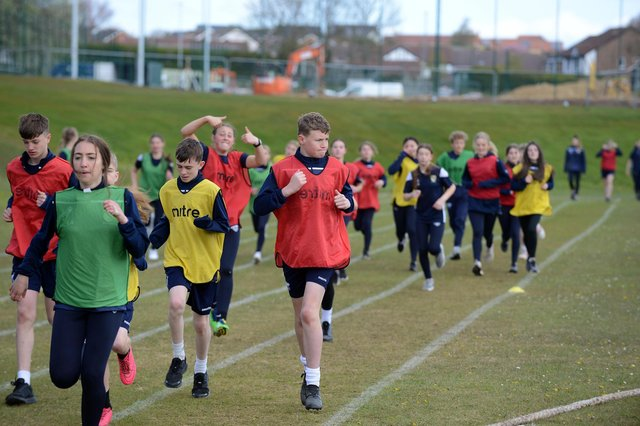 Seventy-five students took part in the charity fundraiser.