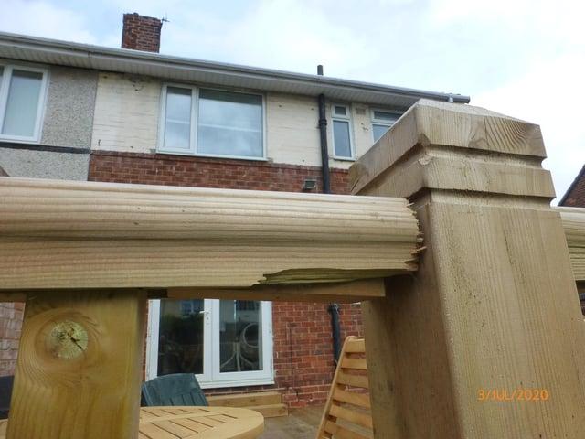 Decking installed by rogue trader Craig Parker