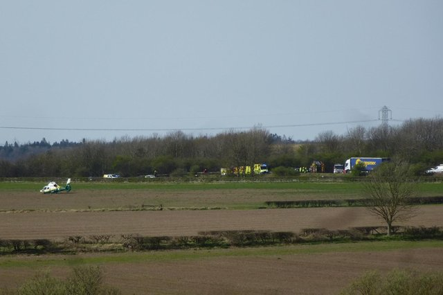The Great North Air Ambulance, Police and Fire service attended the incident.