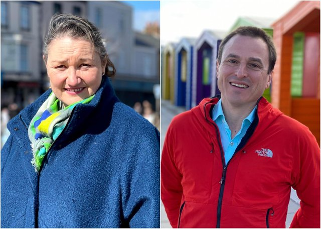 Conservative candidate Jill Mortimer, left, and Labour's Dr Paul Williams are both contesting the Hartlepool by-election.
