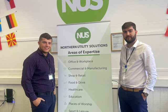 Northern Utility Solutions director Troy Handisides (left) and CEO Matt Walker.