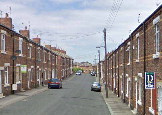Armed police were called to Sixth Street in Horden for the second time within the week following reports of another disturbance. Image copyright Google Maps.