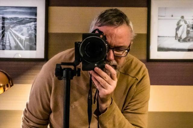 David Coser with his camera.