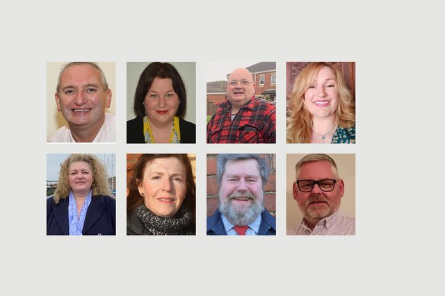 Left to right, candidates in the Victoria ward who submitted pictures to us. Top row, Ian Griffiths, Helen Howson, Tony Mann and Claire Martin. Bottom row, Amanda Napper, Karen Oliver, Carl Richardson and Steve Robinson.