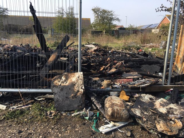 The allotment was destroyed in a fire.