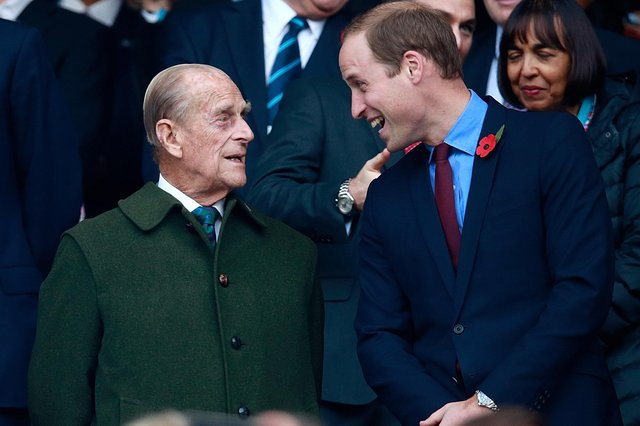Prince Philip and Prince William, pictured in 2015. William has paid tribute following his grandfather's death. Picture: Phil Walter/Getty Images.
