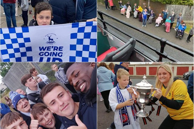 Hartlepool United fans have been sharing their pictures with the Mail from Friday's promotion parade.