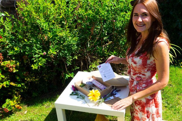 Michelle Taylor Ward who is creating holistic boxes. Images by Emma Appleton Photography