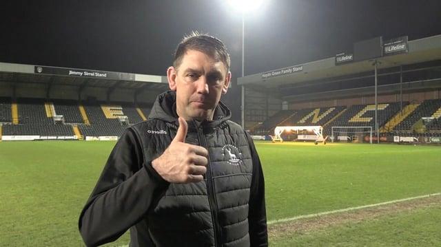 Hartlepool United manager Dave Challinor (HUFC/Alex Chandy)