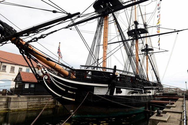 HMS Trincomalee which has re-opened to the public along with the rest of the National Museum of the Royal Navy Hartlepool.
