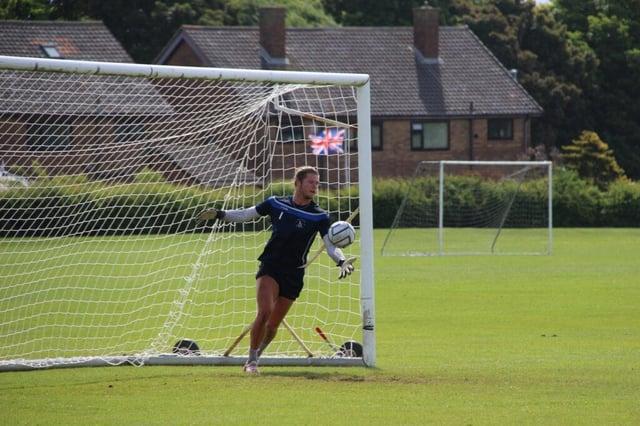 Ben Killip returned to training for Hartlepool United last week (photo: Alex Chandy)