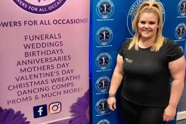 Jemma Elvin is raising money for Hartlepool Ambulance Charity.