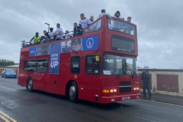 Hartlepool United bus parade.
