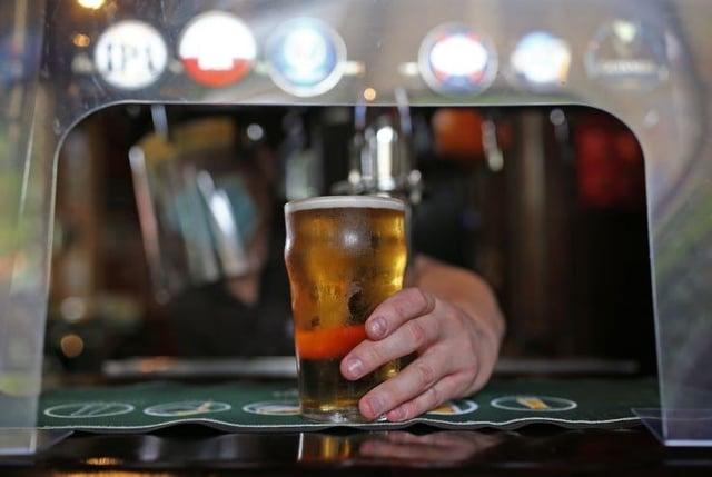 Monday pub sales survey