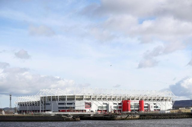 Middlesbrough's Riverside Stadium.