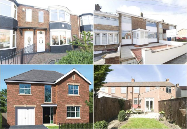 The Hartlepool properties with the most online views in May./Photo: Zoopla