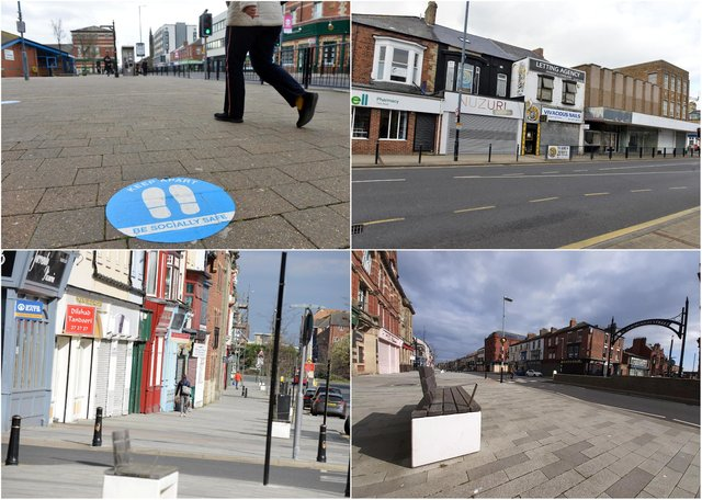 Photos taken across a largely deserted Hartlepool town centre on March 23, 2021, a year on from the announcement of the first lockdown.
